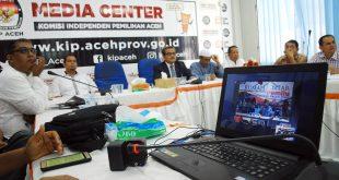Teleconference di Media Center KIP Aceh. [AW]