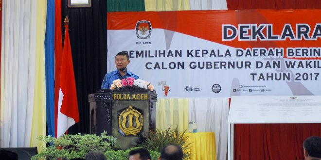 Plt Gubernur Aceh, Mayjen TNI (Purn) Soedarmo. [Foto: AW]