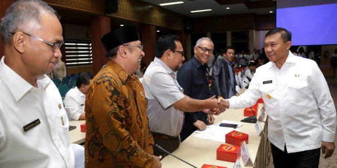Usai rapat Forkopimda Aceh terkait Pilkada. [Foto: Humas Setda Aceh]