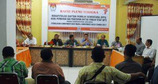 Rapat terkait pelaksanaanPilkada di Pidie Jaya.