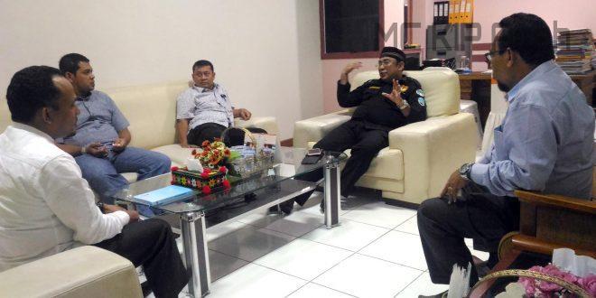 Koordinasi KIP Aceh dan Panwaslih Aceh untuk gelar Bimtek Terpadu | Foto: AW