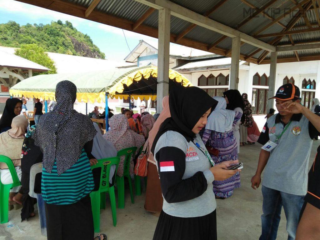 TPS di Gampong Lampoh Blang, Kecamatan Krueng Sabe, Aceh Jaya