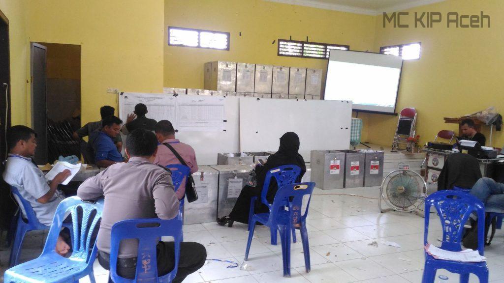 Proses rekapitulasi suara di Kecamatan Blang Pidie, Abdya