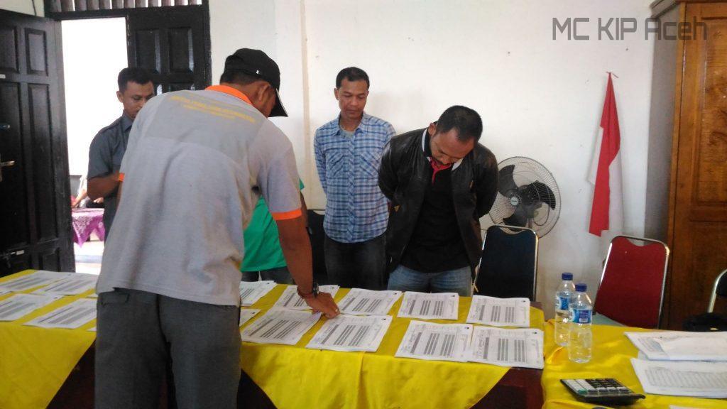 Pemantauan hasil rekapitulsi di Kecamatan Suka Makmue