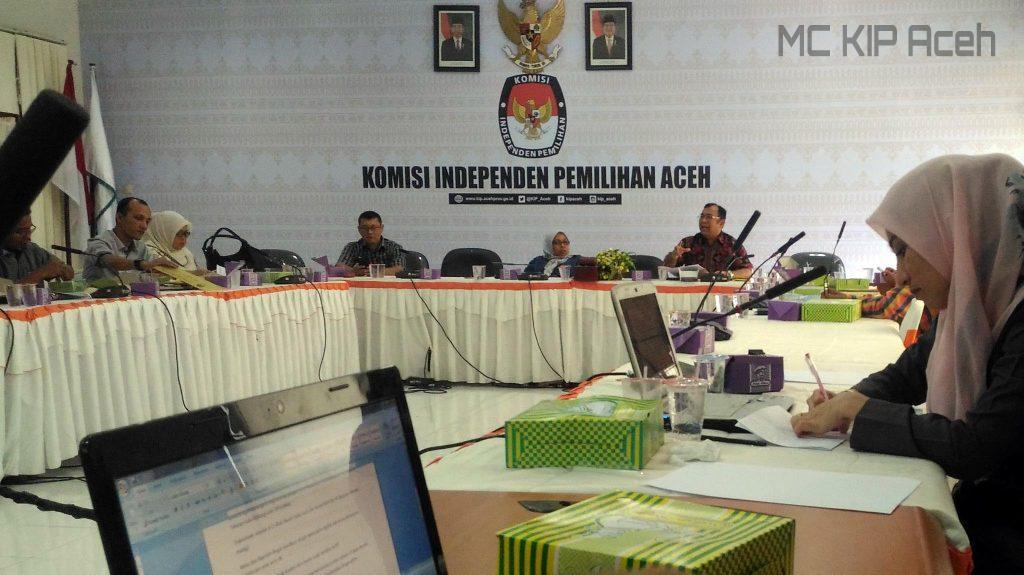 Rapat koordinasi persiapan pemungutan suara bersama KIP Kabupaten Kota | Foto: AW