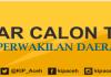 PENGUMUMAN DAFTAR CALON TETAP (DCT) DPD ACEH